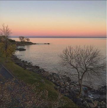 Sunset on lake Superior