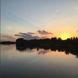 Still sunset on the Crow @lillianalucinda