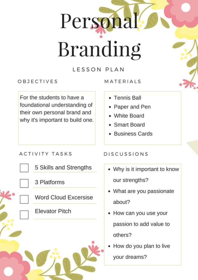 Personal Branding Lesson Plan